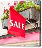 Sale Sign Acrylic Print