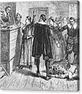 Salem Witch Trials, 1692 Acrylic Print by Granger