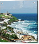 San Juan Pr From The Old Town Fort Acrylic Print