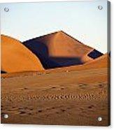 Sand Dunes Against Clear Sky Acrylic Print by Axiom Photographic