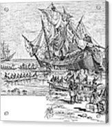 Santa Maria: Wreck, 1492 Acrylic Print by Granger