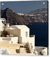 Santorini View Acrylic Print