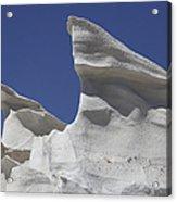 Sarakiniko White Tuff Formations Acrylic Print