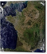 Satellite View Of France Acrylic Print