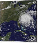 Satellite View Of Hurricane Irene Acrylic Print
