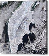 Satellite View Of Kamchatka Peninsula Acrylic Print