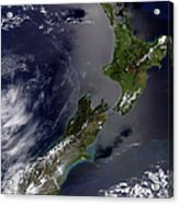 Satellite View Of New Zealand Acrylic Print