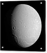 Saturns Moon Dione Acrylic Print
