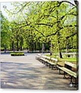 Saxon Garden In Warsaw Acrylic Print
