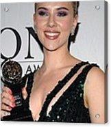 Scarlett Johansson In The Press Room Acrylic Print