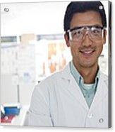 Scientist Acrylic Print by