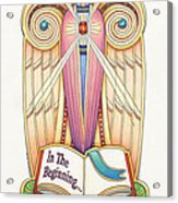 Scroll Angel - Ionica Acrylic Print