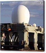 Sea Based X-band Radar Dome Modeled Acrylic Print