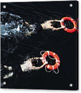 Search And Rescue Swimmers Acrylic Print