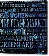 Seattle Icons Acrylic Print