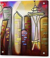 Seattle Acrylic Print by Melisa Meyers