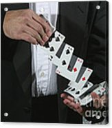 Shuffling Cards Acrylic Print
