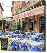 Sidewalk Cafe In Italy Acrylic Print