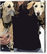 Sighthounds II Acrylic Print by Kris Hackleman