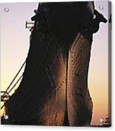 Silhouette Of The Battleship U.s.s Acrylic Print