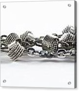 Silver Jewel Chain Acrylic Print by Blink Images