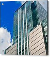 Skyscraper Front View With Blue Sky Acrylic Print
