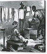 Slaves In Union Camp Acrylic Print