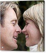 Smiling Couple Embracing Acrylic Print