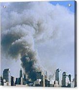 Smoke Billows Over Manhattan Acrylic Print