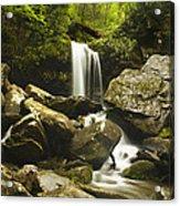 Smoky Mountain Waterfall Acrylic Print by Andrew Soundarajan