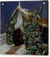 Snowy Christmas Eve Acrylic Print