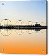 Southport Pier Reflections  Acrylic Print