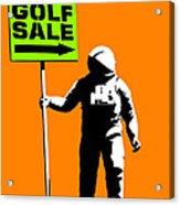 Space Golf Sale Acrylic Print