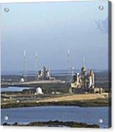 Space Shuttle Atlantis And Endeavour Acrylic Print