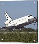 Space Shuttle Atlantis Touches Acrylic Print