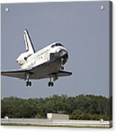 Space Shuttle Discovery Approaches Acrylic Print