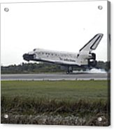 Space Shuttle Discovery Touches Acrylic Print