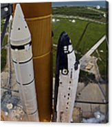 Space Shuttle Endeavour Lifts Acrylic Print