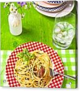 Spaghetti Al Pesto Acrylic Print