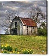 Spring Time Barn Acrylic Print