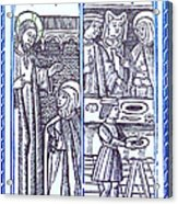 St. Catherine, Italian Philosopher Acrylic Print