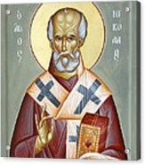 St Nicholas Of Myra Acrylic Print by Julia Bridget Hayes