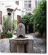 St. Paul De Vence Fountain Acrylic Print