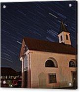 Star Trails Behind Vodice Chapel Acrylic Print
