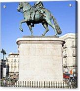 Statue Of King Charles IIi In Madrid Acrylic Print