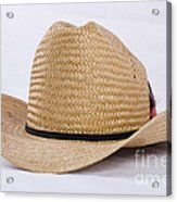 Straw Weave Cowboy Hat Acrylic Print
