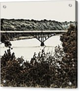 Strawberry Mansion Bridge From Laurel Hill Acrylic Print
