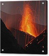 Stromboli Eruption, Aeolian Islands Acrylic Print