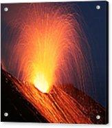 Strombolian Eruption Of Stromboli Acrylic Print