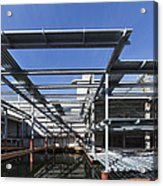 Structural Steel Construction Of An Acrylic Print
